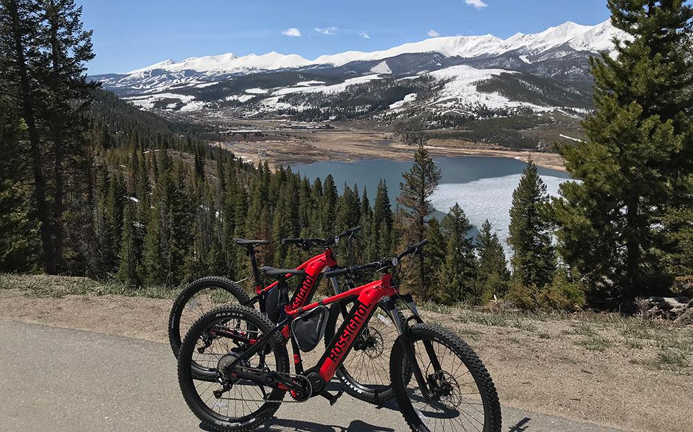 e-bikes on swan mountain